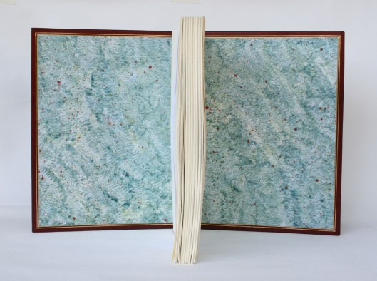 Dimitri's Bookbinding Corner - Marbled Diamond pattern
